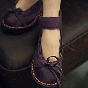 Toe Covered Bow Tie Women Flats Shoes Woman