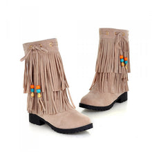 Load image into Gallery viewer, Tassel Ankle Boots Artificial Suede Wedges Shoes Woman 3300 3300