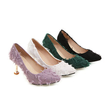 Load image into Gallery viewer, Pointed Toe High Heel Shallow Women Pumps Stiletto Kitten Heel