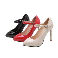 Load image into Gallery viewer, Ankle Strap Wedding Shoes Stiletto Heel