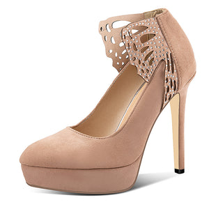 Pointed Toe Sexy Super High-heeled Shallow-mouthed Women Platform Pumps Stiletto Heel Shoes