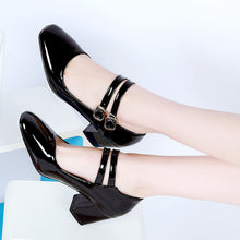 Load image into Gallery viewer, Square Head High Heel Shallow Mouth Women Pumps