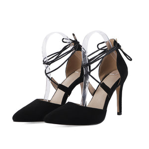Women's Bridal Shoes Ultra High Heel Real Leather Strappy Stiletto Heel Sandals