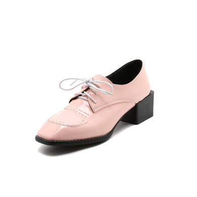 British Wind Square Toe Lace Up Oxford Shoes