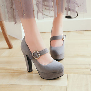 Super High-heeled Coarse-heeled Platform Pumps