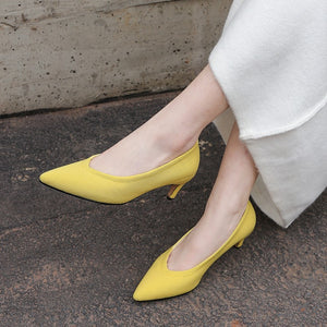 Pointed Toe Thin Heel High Heel 33-43 Size Women Pumps