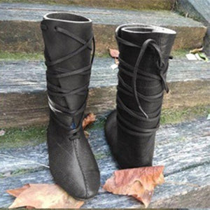 Women's Mid Calf Motorcycle Boots Flat-bottomed