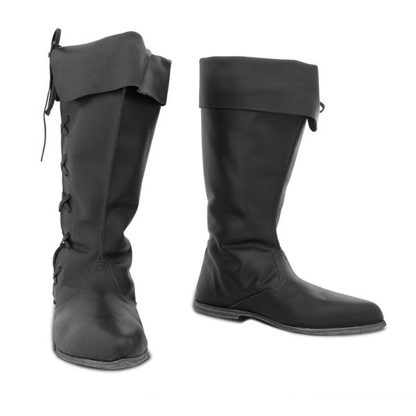 Women's Mid Calf Motorcycle Boots Flat
