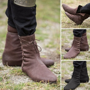 Cross Strap Short Combat Boots