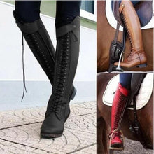 Load image into Gallery viewer, Strappy Women's Knight Boots