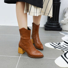 Load image into Gallery viewer, Women's High Heel Short Boots