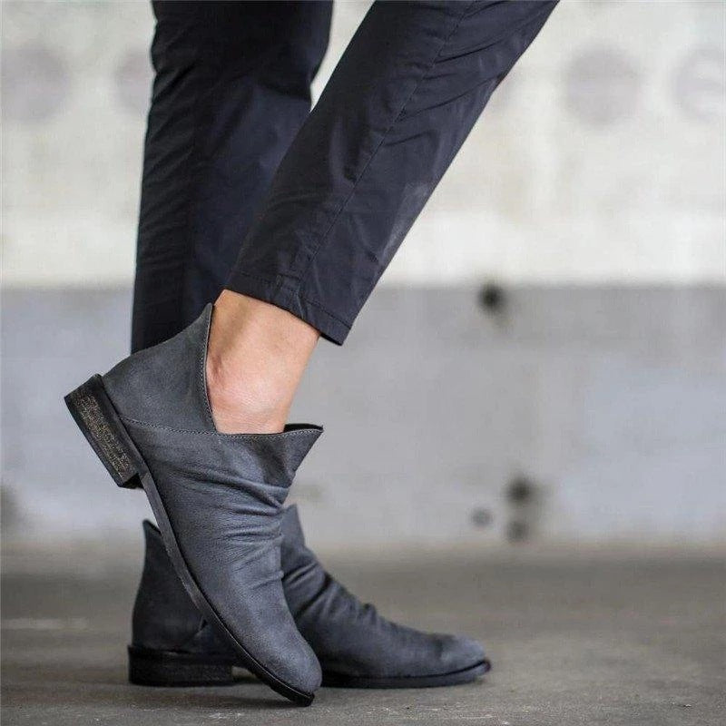Women's Low Heeled Short Boots
