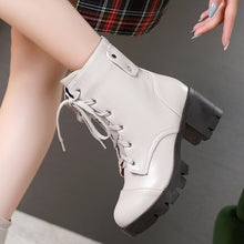 Load image into Gallery viewer, Women's Lace Up Platform Ankle Boots