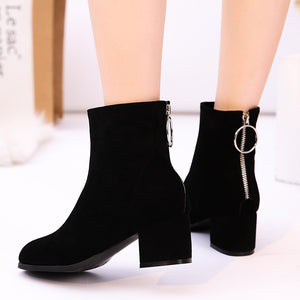 Women's High-heeled Ankle Boots