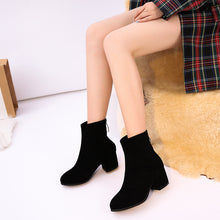 Load image into Gallery viewer, Women's High-heeled Ankle Boots