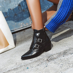 Women's High Heel Pointed Toe Ankle Boots