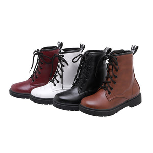 Women's Low-heeled Cross Strap Ankle Boots