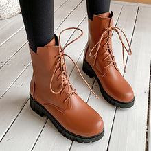 Load image into Gallery viewer, Women's Lace Up Ankle Boots