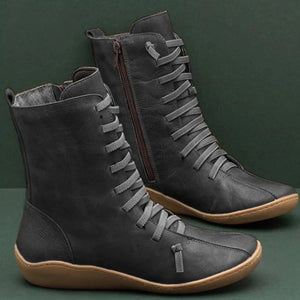 Women's Large Size Casual Ankle Boots