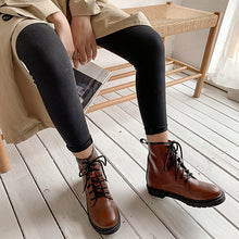 Load image into Gallery viewer, Women's Low-heeled Cross Strap Ankle Boots