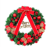 40cm Bow New Year Christmas Wreath Door Drop Room Ornaments Decor
