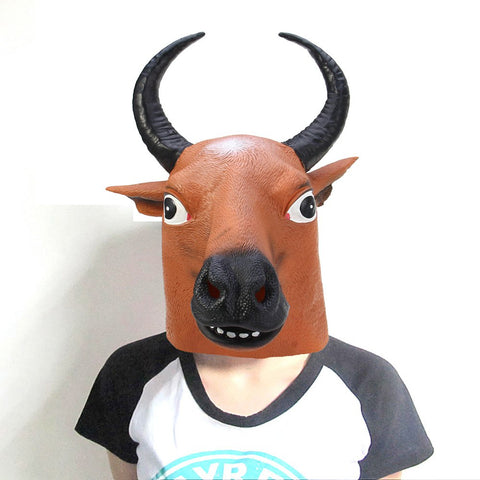 Buffalo Halloween Latex Mask for Masquerade Parties