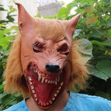 Cosplay Wolf Head Latex Mask Halloween Masquerade Parties