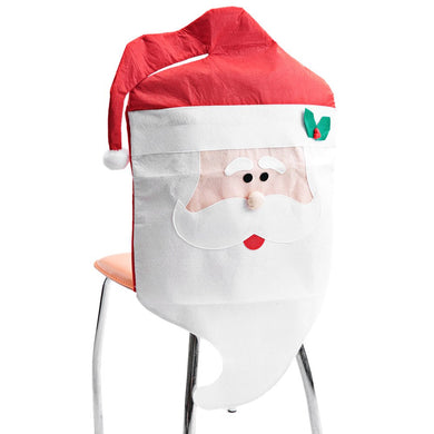 Christmas New Year Mr Santa Claus Chair Cover Dinner Decor Home