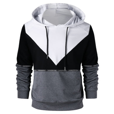 Drawstring Neck Long Sleeved Men Hoodie 4569