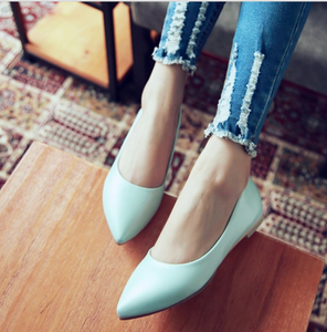 Women Flats Pointed Toe Girl Casual Loafers Shoes Ballet Shoes