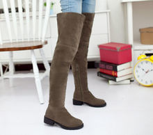 Load image into Gallery viewer, Women Black Thigh High Boots Zipper Wedges Shoes Woman 2016 3564