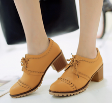 Load image into Gallery viewer, Lace Up Oxfords Women Casual Shoes