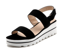 Load image into Gallery viewer, Buckle Platform Sandals Women Candy Colors Wedges Shoes Woman