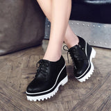 Women Wedges Summer Round Toe Loafers Platform Shoes