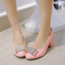 Load image into Gallery viewer, Metal Chunky Heel Pumps Platform High Heels Fashion Women Shoes 5440