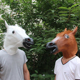 Horse Head Latex Mask for Halloween Masquerade Parties Cosplay Gadget