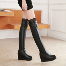 Load image into Gallery viewer, Winter Women Thigh High Boots Wedges Platform Shoes Woman 2016 3492