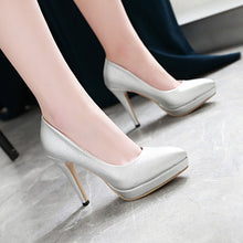 Load image into Gallery viewer, Patent Leather Women Pumps Platform Stiletto Heel High Heels Shoes Woman