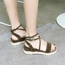 Load image into Gallery viewer, Suede Wedges Sandals Women Platform Shoes 9153