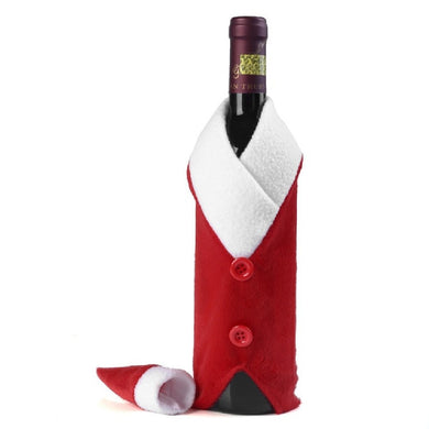 Christmas Home Decoration Red Bottle Bag and Cover