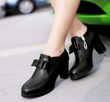 Bowtie Platform Heeled Ankle Boots for Woman 8576