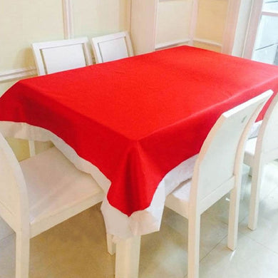 Super Long Red Tablecloths Christmas Decorations