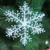 12PCS White Snowflake Ornaments for  Ornaments