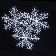 Load image into Gallery viewer, 12PCS White Snowflake Ornaments for  Ornaments