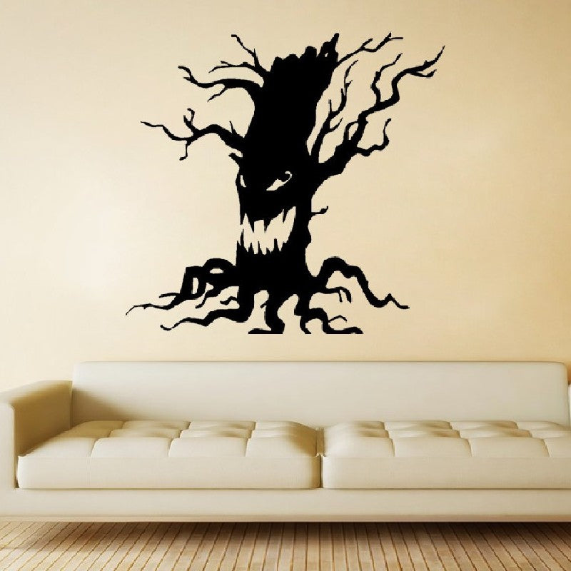 Halloween Removable Wall Stickers Party Horrible Tree Ghost Home Decoration