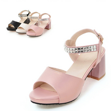 Load image into Gallery viewer, Rhinestone Sandals Women Pumps High-heeled Shoes Woman