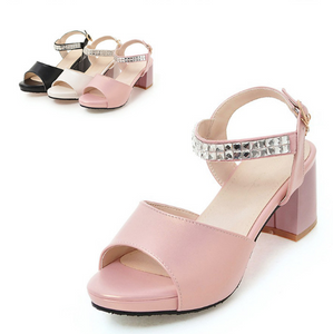 Rhinestone Sandals Women Pumps High-heeled Shoes Woman