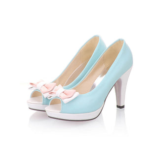 Bow Pumps High Heels Fashion Women Shoes