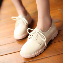 Load image into Gallery viewer, Women Flats Casual Lace Up Loafers Shoes