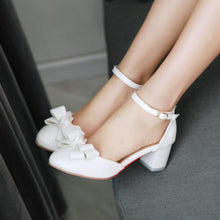 Load image into Gallery viewer, Fashion Bow Sandals Pumps High Heels Women Dress Shoes 6261